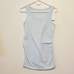 Gap Maternity pure body light blue stripe tank